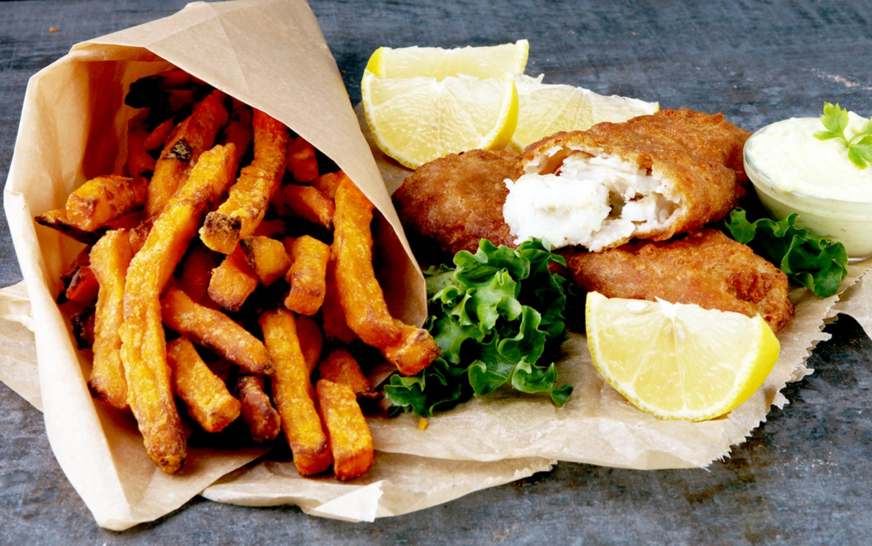Kombucha-Battered Fish & Chips