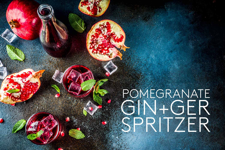 Pomegranate Gin-ger Spritzer