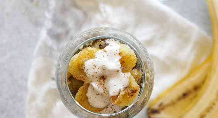 Chia Hemp Parfait with Caramelized Bananas