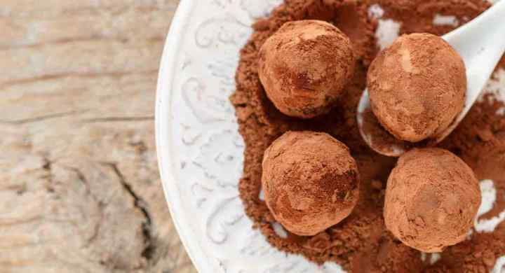 Dark Chocolate Goat Cheese Honey Truffles