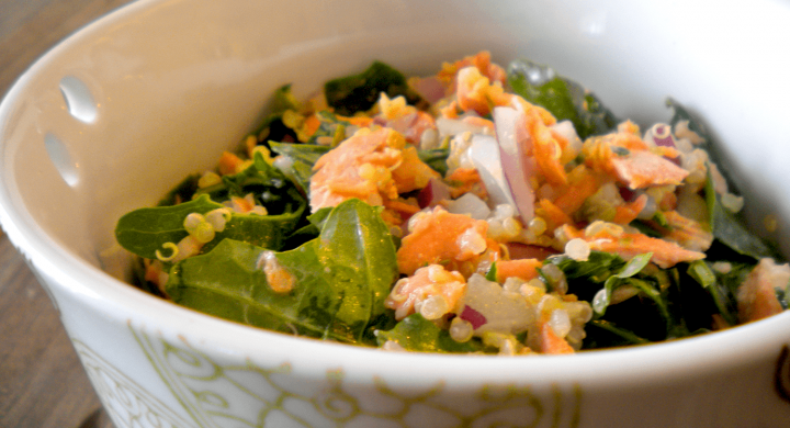 Roasted Wild Salmon & Quinoa Dinner